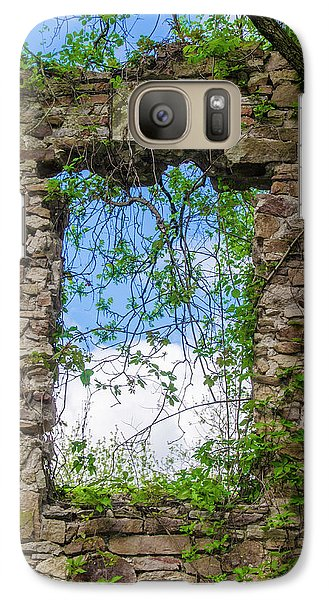 Galaxy Case featuring the photograph Window Ruin At Bridgetown Millhouse Bucks County Pa by Bill Cannon