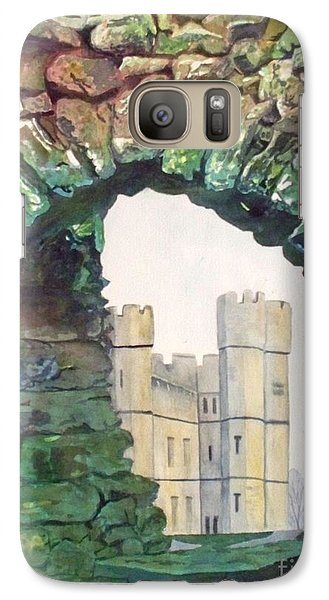 Galaxy Case featuring the painting Window To The Past by LeAnne Sowa