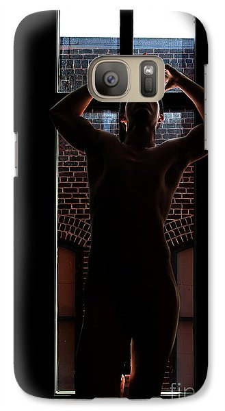 Galaxy Case featuring the photograph Window Will by Robert D McBain