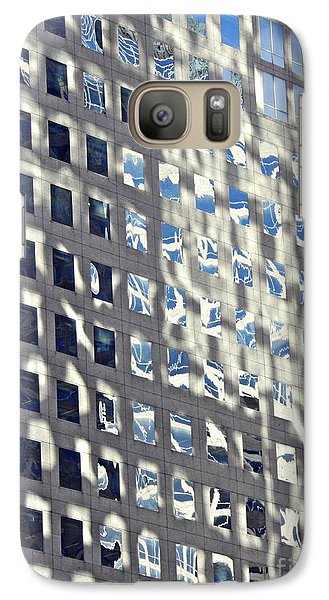 Galaxy Case featuring the photograph Windows Of 2 World Financial Center 2 by Sarah Loft