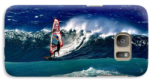 Galaxy Case featuring the photograph Windsurfer by Penni D'Aulerio