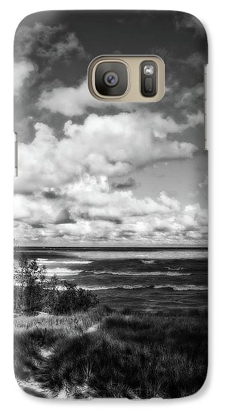 Galaxy Case featuring the photograph Windy Morning On Lake Michigan by Michelle Calkins