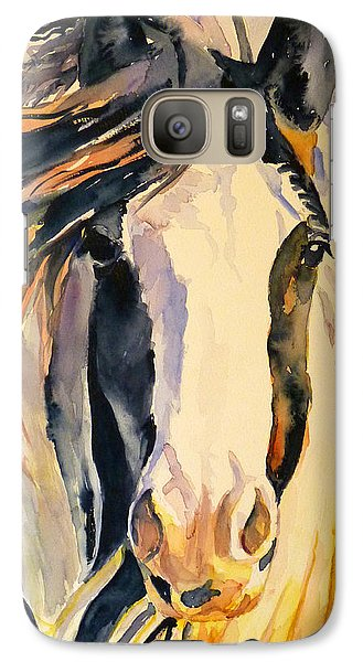 Galaxy Case featuring the painting Windy by P Maure Bausch