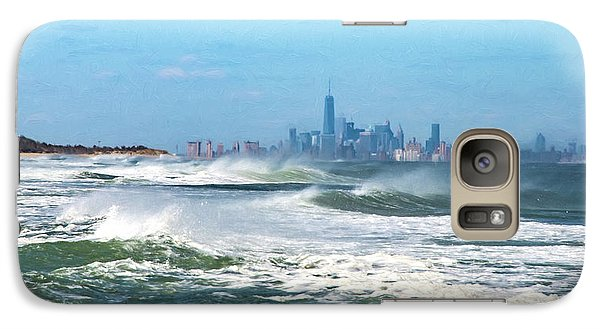 Windy View Of Nyc From Sandy Hook Nj Galaxy S7 Case