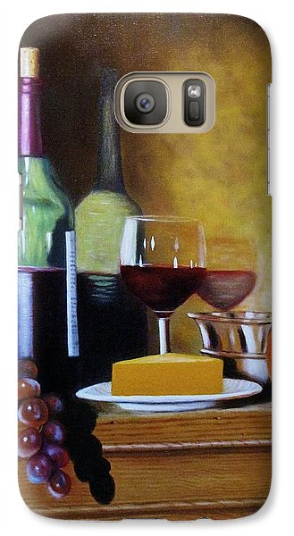 Galaxy Case featuring the painting Wine And Cheese by Gene Gregory