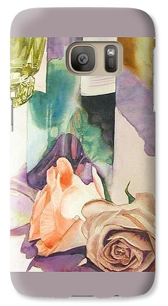 Galaxy Case featuring the painting Wine And Roses by Martha Ayotte