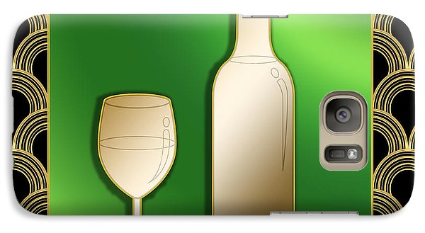 Galaxy Case featuring the digital art Wine Bottle And Glass - Chuck Staley by Chuck Staley