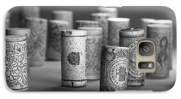 Galaxy Case featuring the photograph Wine Cork Panorama In Black And White by Tom Mc Nemar