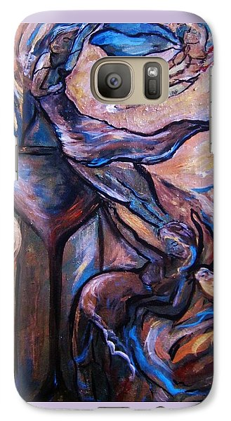 Galaxy Case featuring the painting Wine Fairies by Dawn Fisher