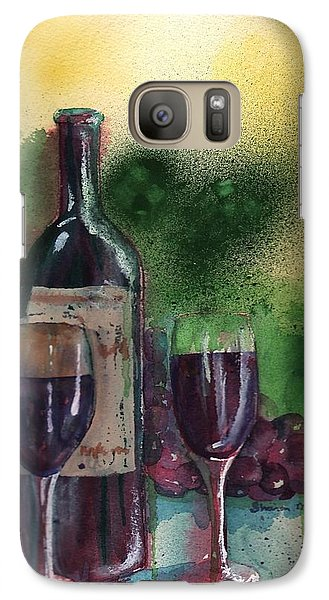 Galaxy Case featuring the painting Wine For Two by Sharon Mick