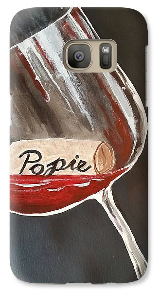 Galaxy Case featuring the painting Wine Glass by Carol Duarte
