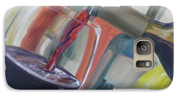Galaxy Case featuring the painting Wine Pour by Donna Tuten