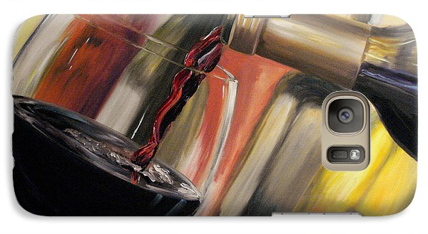Galaxy Case featuring the painting Wine Pour II by Donna Tuten