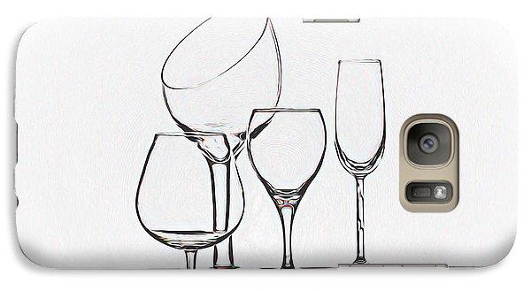 Wineglass Graphic Galaxy S7 Case by Tom Mc Nemar