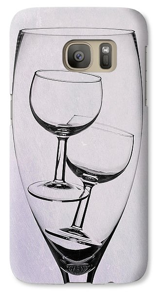 Galaxy Case featuring the photograph Wineglass Trio by Tom Mc Nemar