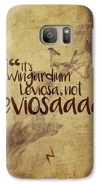 Wizard Galaxy S7 Case - Wingardium by Samuel Whitton