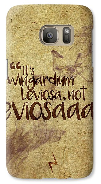 Wizard Galaxy S7 Case - Wingardium by Samuel Whitton