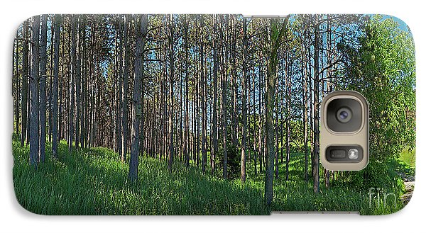 Galaxy Case featuring the photograph Wingate Prairie Veteran Acres Park Pines Crystal Lake Il by Tom Jelen