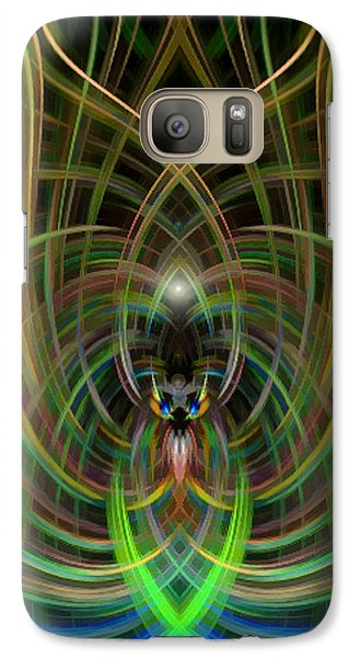 Galaxy Case featuring the photograph Winged Bug by Cherie Duran
