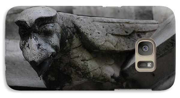 Galaxy Case featuring the photograph Winged Gargoyle by Christopher Kirby