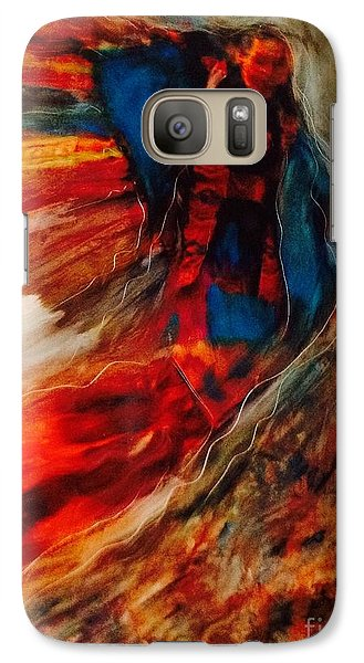 Galaxy Case featuring the painting Winged Ones by FeatherStone Studio Julie A Miller