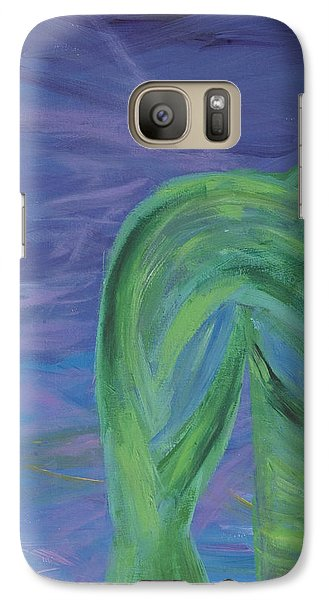Galaxy Case featuring the painting Winged Thing by Lola Connelly