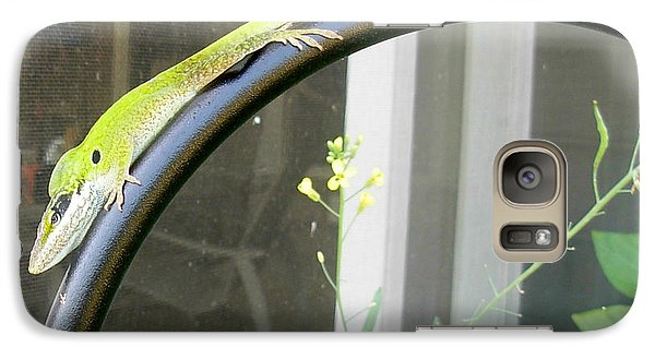 Galaxy Case featuring the photograph Winning Anole by Jeanne Kay Juhos