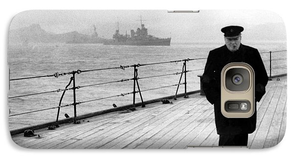 Boat Galaxy S7 Case - Winston Churchill At Sea by War Is Hell Store