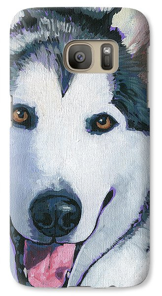 Galaxy Case featuring the painting Winston by Nadi Spencer