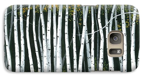 Galaxy Case featuring the painting Winter Aspen 3 by Michael Swanson
