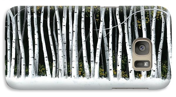 Galaxy Case featuring the painting Winter Aspens II by Michael Swanson