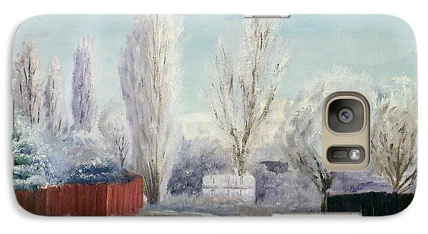 Galaxy Case featuring the painting Winter At Bonanza by Sherril Porter