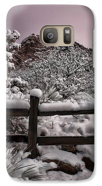 Galaxy Case featuring the photograph Winter At Garden Of The Gods by Ellen Heaverlo