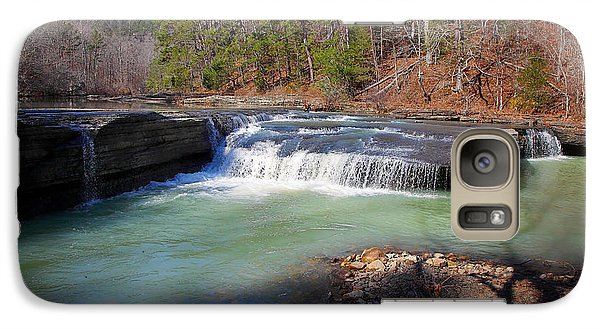 Galaxy Case featuring the photograph Winter At Haw Creek Falls by Michael Dougherty