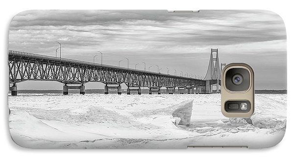 Galaxy Case featuring the photograph Winter At Mackinac Bridge by John McGraw