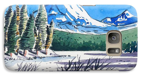 Galaxy Case featuring the painting Winter At Mt. Lassen by Terry Banderas