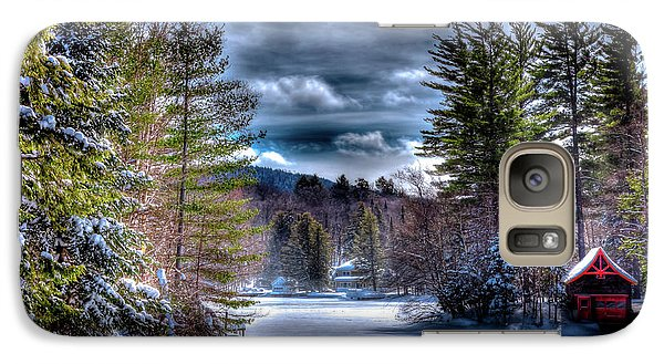 Galaxy Case featuring the photograph Winter At The Boathouse by David Patterson