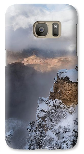 Galaxy Case featuring the photograph Winter At The Grand  Canyon by Sandra Bronstein