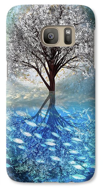 Galaxy Case featuring the digital art Winter At The Reef by Debra and Dave Vanderlaan