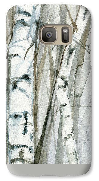 Galaxy Case featuring the painting Winter Birch by Laurie Rohner