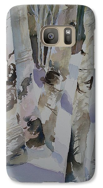 Galaxy Case featuring the painting Winter Birches by Sandra Strohschein