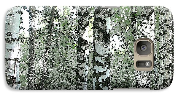 Galaxy Case featuring the digital art Winter Birches by Walter Chamberlain
