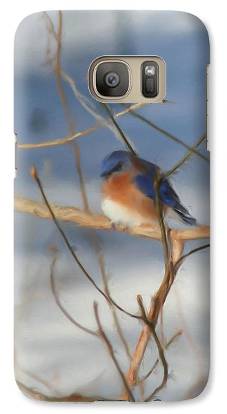 Galaxy Case featuring the painting Winter Bluebird Art by Smilin Eyes  Treasures