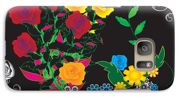 Galaxy Case featuring the digital art Winter Bouquet by Kim Prowse