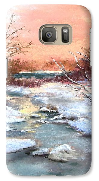 Galaxy Case featuring the painting Winter Brook by Jack Skinner