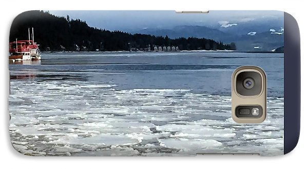 Galaxy Case featuring the photograph Cottage Life In Winter by Victor K