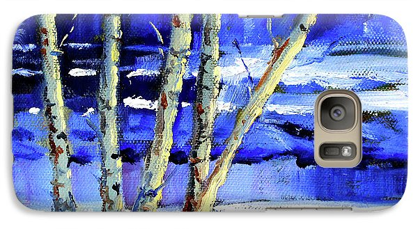 Galaxy S7 Case featuring the painting Winter By The River by Nancy Merkle