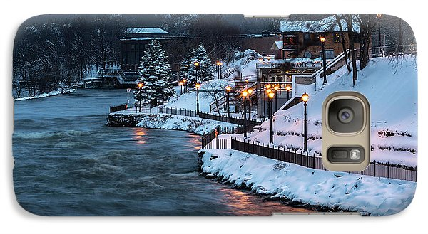 Galaxy Case featuring the photograph Winter Canal Walk by Everet Regal