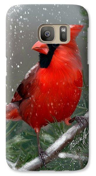 Winter Cardinal Galaxy S7 Case