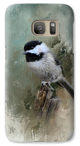 Winter Chickadee Galaxy S7 Case by Jai Johnson
